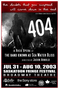 404 rock opera poster