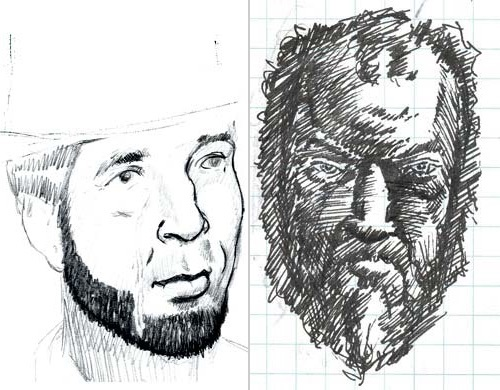 two sketches by troy mamer